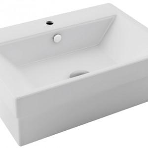 Umywalka nablatowa, którą można również zamontować na ścianie. Materiał: ceramika sanitarna Wym. 42,5x32,1cm. Cena: ok. 339 zł, Actima/Antila.
