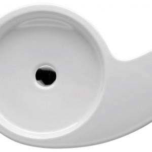 Umywalka nablatowa bez otworu na baterię. Materiał: ceramika sanitarna Wym. 58x40 cm. Cena: ok. 1.606 zł, Roca/Urbi.