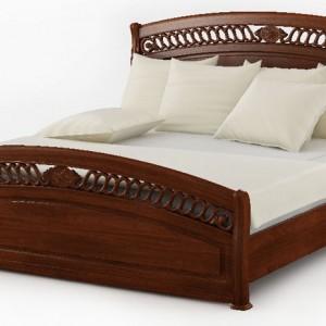 Łóżko 9901 z dekoracyjną stylizowaną ramą i wezgłowiem. Cena: ok. 2.299 zł, Agata Meble