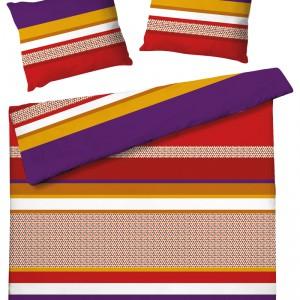 Komplet pościeli Red Stripes. Materiał: bawełna. W komplecie: poszwa 200x220, dwie poduszki 70x80. Cena: ok. 159 zł, Home&You.