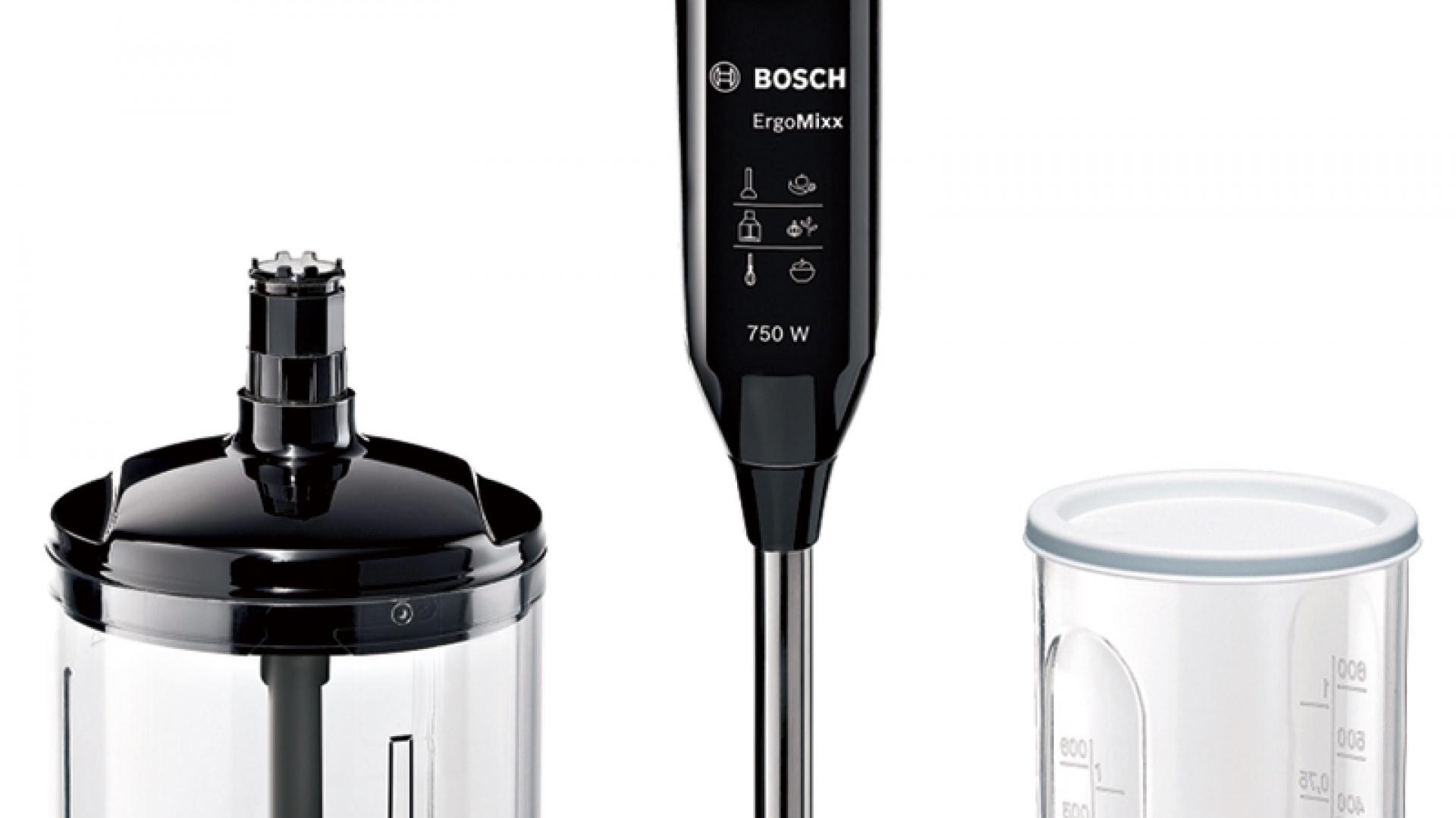 Blender ErgoMixx MSM67140 wykonany z najwyższą dbałością o komfort użytkowania sprawia, że przygotowywanie posiłków staje się nie tylko szybkie, ale również wyjątkowo wygodne. Cena: ok. 209 zł, Bosch.
