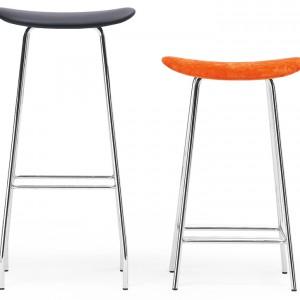 Cornflake – siedzisko wykonane z laminatu drewnianego, pokrytego tkaniną lub skórą, nogi: chromowane; wys. 79 cm. Cena: od ok. 2.157 zł, Offecct/Worlds Design.