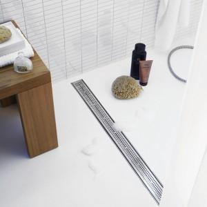 Rynna odpływowa TECEdrainline ze stali szlachetnej to nie tylko istotny detal aranżacyjny wystroju łazienki, ale i praktyczne rozwiązanie instalacyjne,TECE.