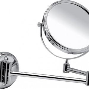 Lusterko kosmetyczne to sprawdzony pomocnik każdej dziewczyny. Mocowany do ściany model Novatorre firmy Ferro ma składane ramię i obraca się w osi poziomej – można ustawić je pod odpowiednim kątem do twarzy; cena: ok. 107,63 zł, Ferro.