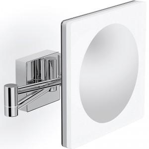 Specjalna powłoka na powierzchni lustra z oświetleniem zabezpiecza przed wilgocią. Dzięki technologii Power Led, oświetlenie lustra Solea Led z oferty Szkło-Lux generuje dwa razy mocniejsze światło. Model   Super Slim – odstaje od ściany jedynie na 2 cm. Różne formaty i konfi guracje, także w dowolnych wymiarach na zamówienie; cena: ok. 354 zł (80x66 cm), LustroDlaCiebie.pl