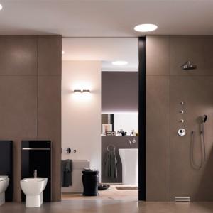 Bez konieczności dużego remontu można uatrakcyjnić przestrzeń łazienki za pomocą modułów sanitarnych Geberit Monolith. Za estetycznymi szklanymi taflami ukryte są instalacje wodno- kanalizacyjne sedesu i bidetu; Geberit.