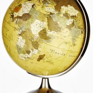 Elegancki i stylowy globus – świetny na biurko podróżnika. Na zamówienie, Hubsch/North and South Home.