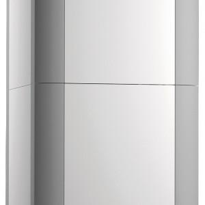 Genus Premium FS 35FF - kondensacyjny, stojący, z wbudowanym zasobnikiem warstwowym ze stali nierdzewnej o poj. 105 l. Przystosowany do zdalnego sterowania i do współpracy z panelem solarnym. Wielofunkcyjny wyświetlacz LCD, wydajniejsza, modulowana pompa i większy wymiennik c.w.u. Moc: od 7,0 do 31 kW (c.o.) wymiary: 140x60x64 cm. Cena: ok. 8.930,96 zł, Ariston.