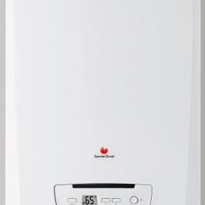 Semia Condens F 25-A - kondensacyjny, wiszący, dwufunkcyjny, z wbudowaną automatykę pogodową. Zamknięta komora spalania. Może być zasilana gazem GZ 50 (ustawienie fabryczne), a po zmianie ustawień – także gazem GZ 41,5 lub propanem. Moc: od 5,4 do 19,6 kW (c.o.), od 5,1 do 25,5 kW (c.w.u.), wymiary: 74x41,8x34,4 cm. Cena: ok. 7.749 zł, Saunier Duval.
