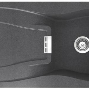 Zlewozmywak Waterfall D-100 wykonany z materiału Cristadur® – twardego i odpornego na działanie promieni UV oraz środków chemicznych. Efekt Nanoclean zapewnia bardziej gładką powierzchnię i bardziej naturalna w dotyku. Cena: ok. 2.950,77 zł, CCI/Schock.
