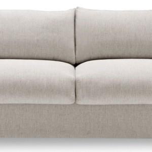 Sofa Eddie bez zdejmowania poduszek siedziskowych zamienia się w łóżko. Pokrowce z tkaniny są w pełni zdejmowane, skórzane tylko z poduszek siedziska i podłokietników...
