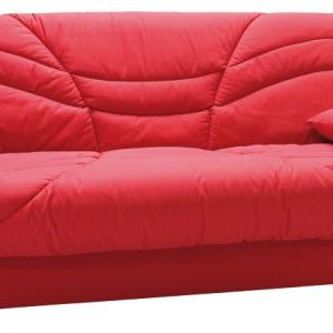 Sofa Nico z funkcją spania i z pojemnikiem na pościel. Wbudowane sprężyny typu bonell zwiększają komfort siedzenia. Dodatkowym atutem jest zdejmowany pokrowiec. Dostępna w szerokiej gamie tkanin. Cena: od ok. 999 zł, Exline/Agata Meble.