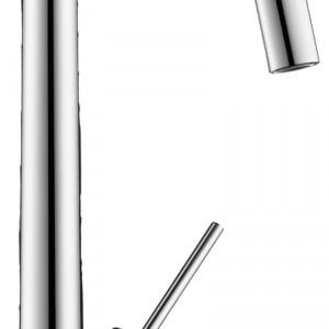 """Axor Starck - bateria, stojąca, jednouchwytowa, z obrotową wylewką typu """"U"""", głowica ceramiczna. Kolor: chrom. Cena: ok. 2.065 zł, Axor."""