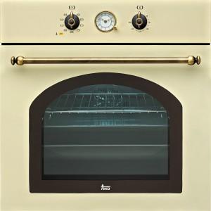 HR 750 BEIGE – wielofunkcyjny; bezowy lub antracytowy (mozna dokupic płyte gazowa i mikrofalówke w identycznych odcieniach); 9 funkcji grzania; analogowy zegar z wyłaczeniem, emalia Crystal Clean; poj. 65 l; cena: ok. 1.859 zł, Teka,