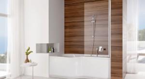 Przyjdzie z pomocą wszystkim posiadaczom małych łazienek. Tam gdzie nie ma możliwości zainstalowania wanny prostokątnej czy symetrycznej narożnej, modele asymetryczne to sposób na wygodną łazienkę z pełnym wyposażeniem.