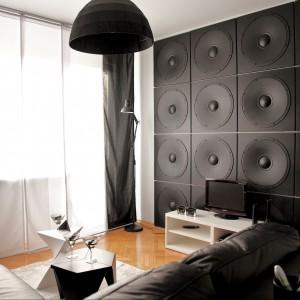 Trójwymiarowe panele dekoracyjne to pomysł na ścianę, który wykreuje niezapomnianą atmosferę w pokoju dziennym. Na zdjęciu: Dekor 11. Wycena indywidualna, Loft Design System.