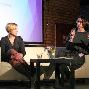 Lidia Kowalska-Getler, przedstawicielka firmy Marbet i Ewa Trzcionka.
