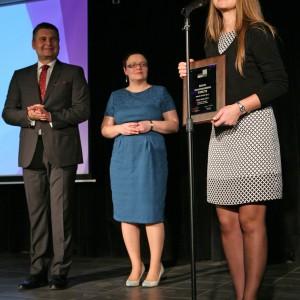 Wyróżnienie w podkategorii Baterie Kuchenne otrzymała bateria zlewozmywakowa Storczyk marki Deante. Nagrodę odebrała Anna Kowalska, zastępca dyrektora handlowego ds. marketingu w firmie Deante.