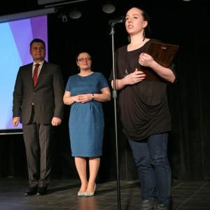 Tytul w kategorii Duże AGD zdobyła płyta indukcyjna Infinite Pure EHD8740FOK marki Electrolux. Nagrodę odebrała Magdalena Jakubowska, przedstawicielka firmy Electrolux Poland.