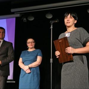 Wyróżnienie w tej samej podkategorii otrzymała toaleta myjąca Aquaclean Sela marki Geberit. Nagrodę odebrała Anna Dąbrowska-Makara, dyrektor asortymenty GAC w firmie Geberit.