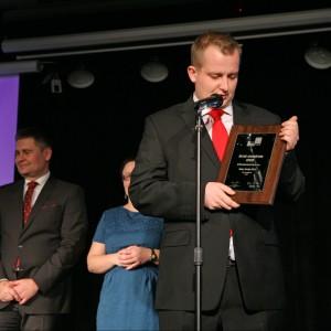 W podkategorii Drzwi Zewnętrzne triumfowały drzwi AT410 IFTM Internorm. Nagrodę odebrał Marcin Ksokowski, członek zarządu firmy IFTM Internorm.