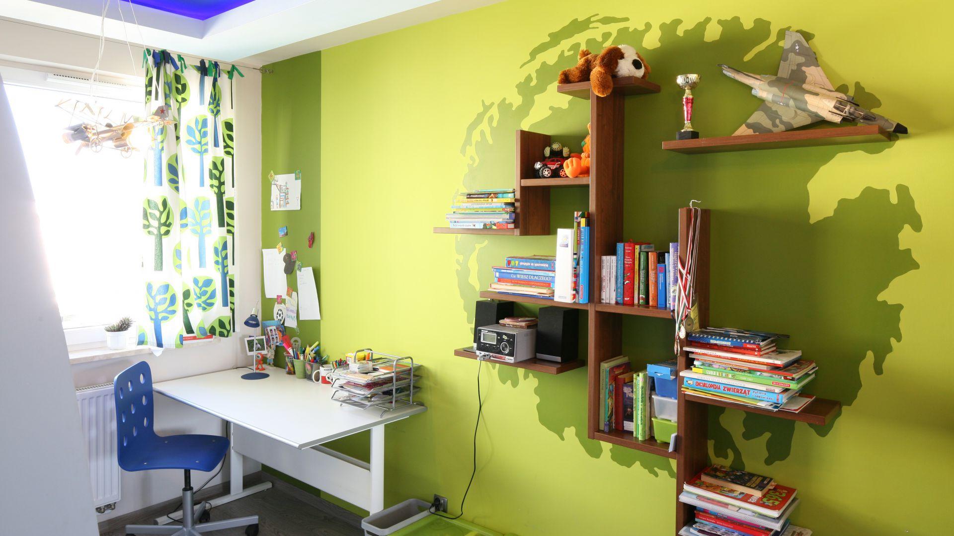 Zielony i niebieski to najczęściej wybierane kolory do chłopięcego pokoju. Fot. B. Jarosz.JPG