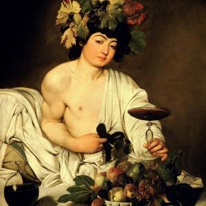 Reprodukcja obrazu z epoki – Bachus autorstwa Michelangelo Merisi Da Caravaggio, 3 rozmiary do wyboru, płótno malarskie, 120x100cm, Unikalneobrazy.