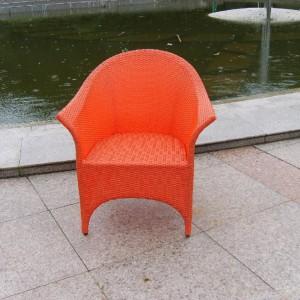 Plastikowy fotel plecionkowy, imitujący rattanowy. Wuyi Husen Outdoor Products Co.,Ltd