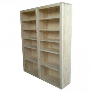 Minimalistyczny regał w naturalnym kolorze drewna. Fot. Woodenfactory.