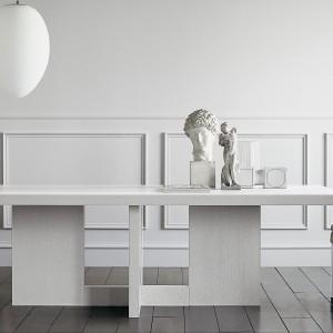 Lampa z kolekcji Tokio White o ładny, owalnym kształcie. Średnica 40 cm. Cena na zamówienie, Casa Milano/Square Space.