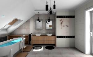 Łazienka w stylu nowoczesnym.