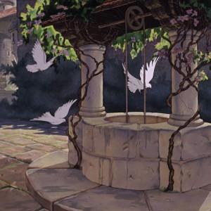 """Kadr z """"Królewny Śnieżki z 7 krasnoludków"""" z 1937 roku."""