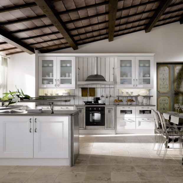 12 kuchni w pięknych klasycznych aranżacjach