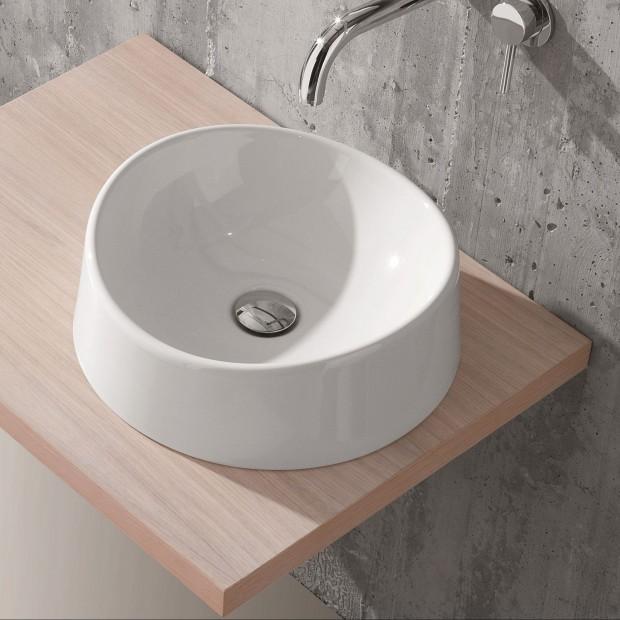 Umywalka nablatowa. 16 najciekawszych przykładów o okrągłym kształcie