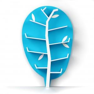 Regał Woodshelf w kolorze niebieskim.