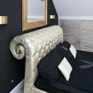 Nawet nowoczesną sypialnię w stylu glamour można zaadaptować na potrzeby dziecka.  Fot. Bartosz Jarosz.