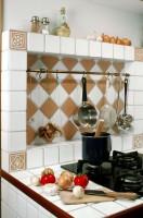 Kuchnia  w domku modrzewiowym.
