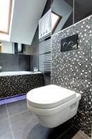 Realizacja Architekta Czarno Szara łazienka Z Nutą Bieli