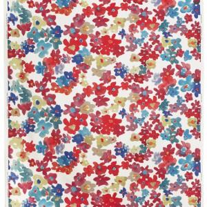 Wielobarwna tkanina Solrun o szerokości 150 cm o mocnej kolorystyce. Cena 25,99 zł/ metr. Fot.Ikea.