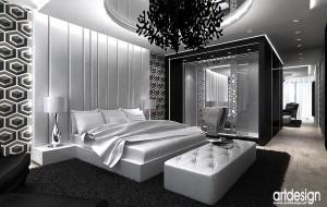 Nowoczesna sypialnia z nutką stylu glmour