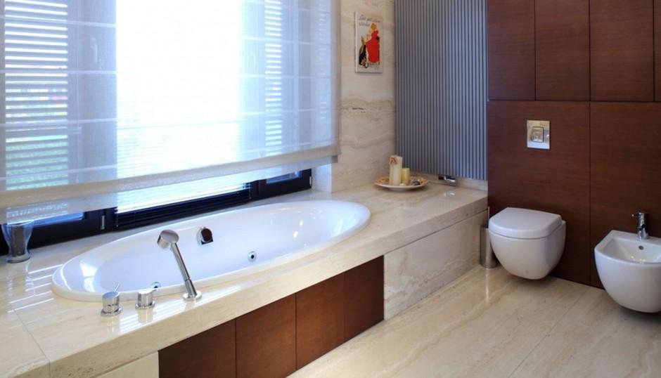 Realizacja Architekta łazienka W Kamieniu I Drewnie