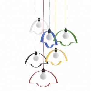 Lampa Nowa Stołowa. Blacha aluminiowa gr. 3mm cięta i gięta numerycznie, malowana proszkowo w sześciu kolorach. Fot. Tabanda.