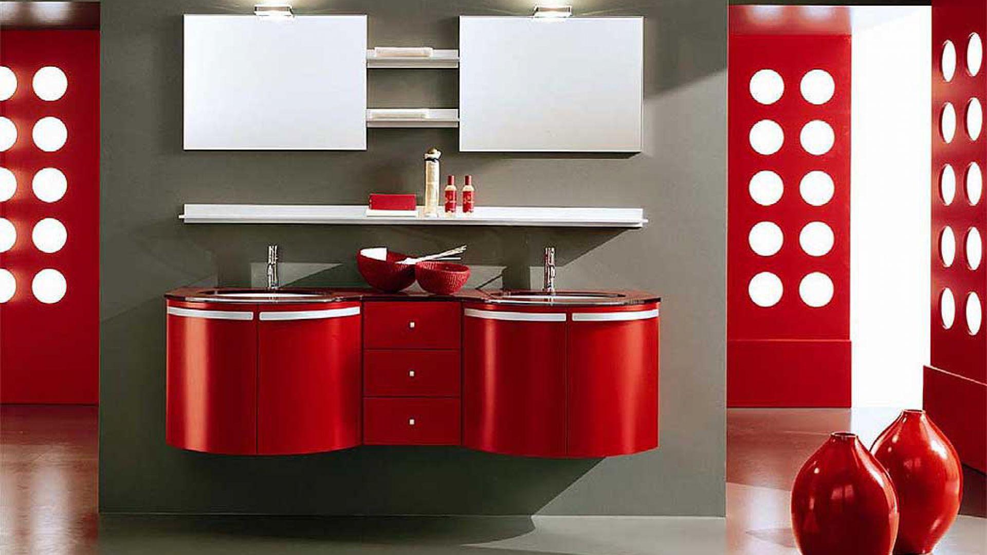 Szafki Do łazienki Najciekawsze Propozycje W Kolorze Czerwonym