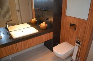 Łazienka w domu szeregowym w Sosnowcu.
