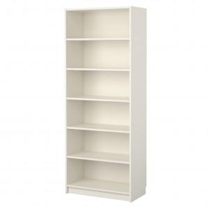 Regał, który swoją formą stanowi tło dla książek. Minimalizm w czystej postaci. Fot. Ikea.
