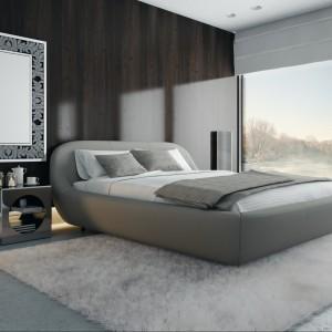 Łóżko Zarra przeznaczone do materaca 160 x 200 cm lub 180 x 200 cm. Łóżko posiada zintegrowany pojemnik na pościel.Fot. Miotto/ Formazone.pl