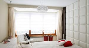 Zobaczcie w jaki sposób dobrać kolor ścian do sypialni z łóżkiem w kolorze calvadosu.