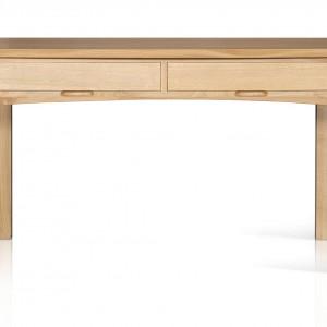 Solidne biurko wykonane z litego drewna dębowego, sprawdzi się zarówno w nowoczesnym, jak i klasycznym gabinecie. Projekt: Wayne Maxwell Design. Sprzedaż: Dller. Cena: 2.040 zł.