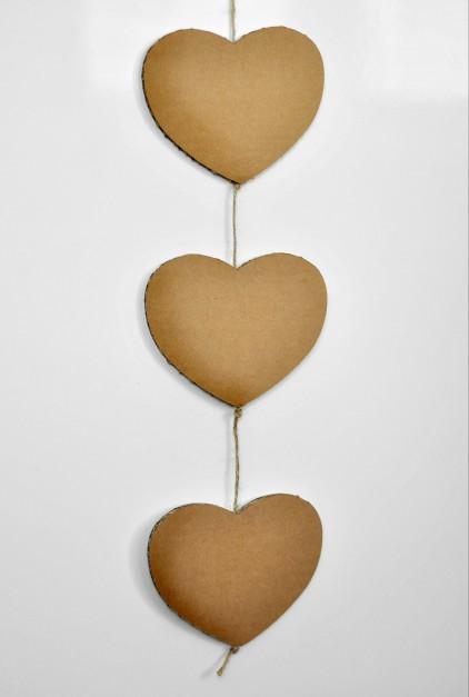 Tekturowa dekoracja serca. Fot. Lifehere.