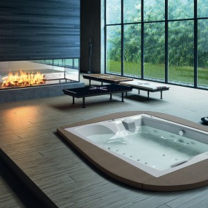 Wanna z hydromasażem Linea, Aqua Design.